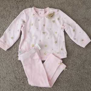 Girls Clothes 2pc Pink & Gold Star Outfit 12M